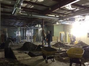 A picture of the construction that was happening at Building Futures recently.